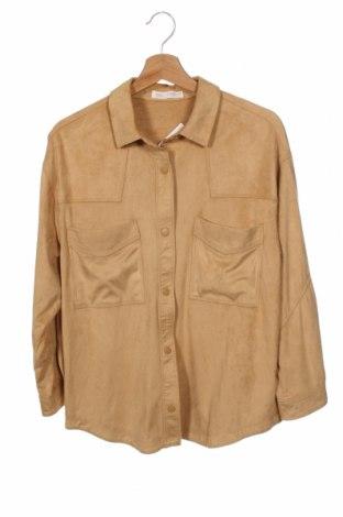 Παιδικό πουκάμισο Zara Kids, Μέγεθος 13-14y/ 164-168 εκ., Χρώμα  Μπέζ, 90% πολυεστέρας, 10% ελαστάνη, Τιμή 15,31€