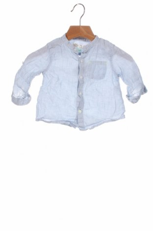 Cămașă pentru copii Zara Kids, Mărime 3-6m/ 62-68 cm, Culoare Albastru, In, Preț 56,75 Lei