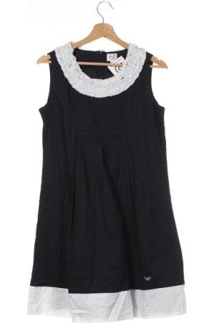 Dětské šaty  Armani Junior, Velikost 15-18y/ 170-176 cm, Barva Modrá, 97% bavlna, 3% elastan, Cena  2816,00Kč
