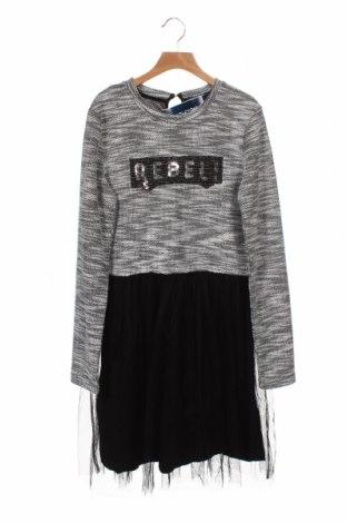 Детска рокля Attention, Размер 12-13y/ 158-164 см, Цвят Черен, 80% полиестер, 18% метални нишки, 2% еластан, Цена 41,30лв.