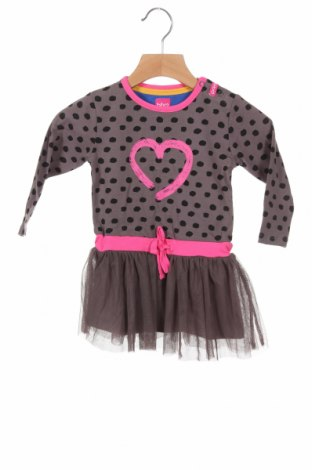 Детска рокля Beebielove, Размер 9-12m/ 74-80 см, Цвят Сив, 100% полиестер, Цена 39,00лв.