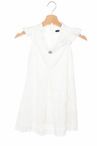 Детска рокля Calvin Klein, Размер 7-8y/ 128-134 см, Цвят Бял, Памук, Цена 26,25лв.