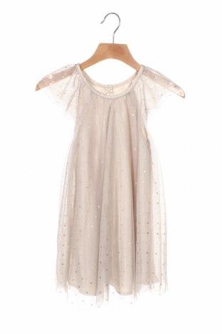 Детска рокля H&M, Размер 18-24m/ 86-98 см, Цвят Бежов, Полиестер, Цена 21,00лв.
