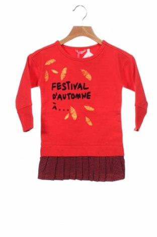 Детска рокля Nono, Размер 18-24m/ 86-98 см, Цвят Червен, 95% памук, 5% еластан, Цена 48,30лв.