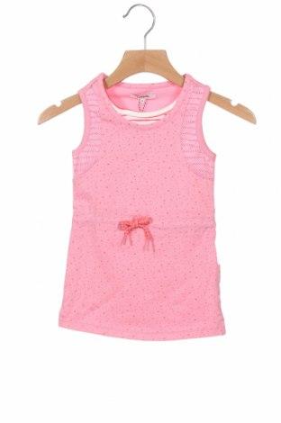 Rochie pentru copii Noppies, Mărime 9-12m/ 74-80 cm, Culoare Roz, 95% bumbac, 5% elastan, Preț 145,56 Lei