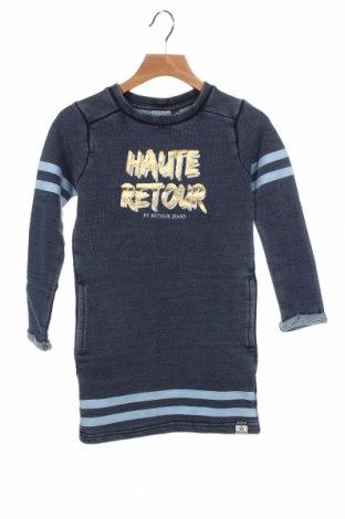 Детска рокля Retour Jeans, Размер 4-5y/ 110-116 см, Цвят Син, 80% памук, 20% полиестер, Цена 48,30лв.