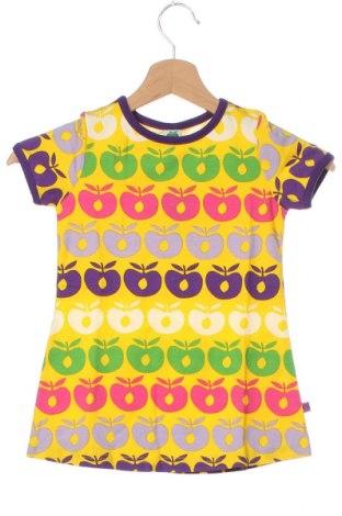 Rochie pentru copii Smafolk, Mărime 18-24m/ 86-98 cm, Culoare Galben, 50% bumbac, 45% modal, 5% elastan, Preț 145,56 Lei
