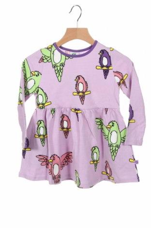 Rochie pentru copii Smafolk, Mărime 2-3y/ 98-104 cm, Culoare Mov, 95% bumbac, 5% elastan, Preț 145,56 Lei