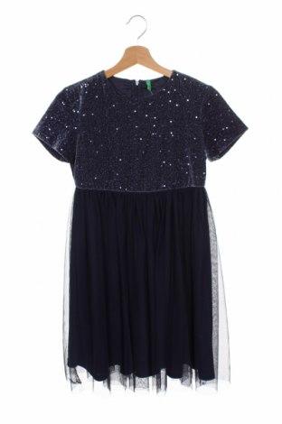 Детска рокля United Colors Of Benetton, Размер 11-12y/ 152-158 см, Цвят Син, 92% полиестер, 8% еластан, Цена 34,50лв.