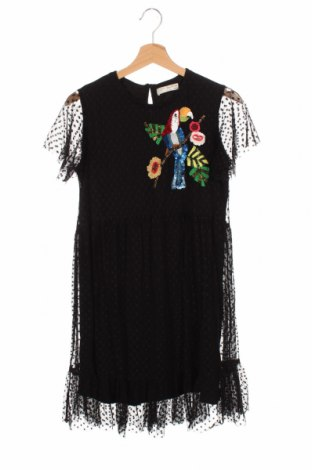 Детска рокля Zara, Размер 13-14y/ 164-168 см, Цвят Черен, Полиамид, Цена 21,00лв.
