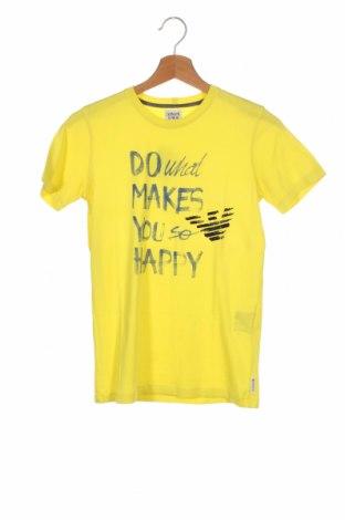 Tricou pentru copii Armani Junior, Mărime 13-14y/ 164-168 cm, Culoare Galben, Preț 89,80 Lei