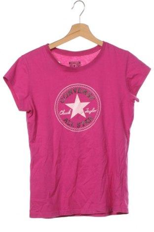 Tricou pentru copii Converse, Mărime 12-13y/ 158-164 cm, Culoare Roz, 60% bumbac, 40% poliester, Preț 92,84 Lei