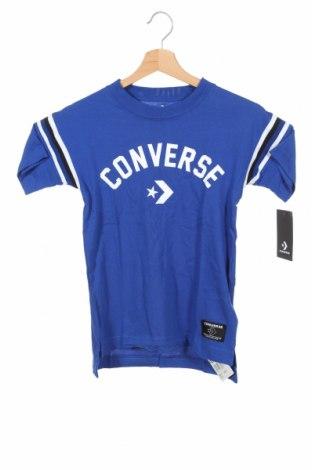 Tricou pentru copii Converse, Mărime 7-8y/ 128-134 cm, Culoare Albastru, Bumbac, Preț 120,89 Lei