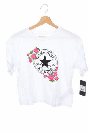 Tricou pentru copii Converse, Mărime 11-12y/ 152-158 cm, Culoare Alb, Bumbac, Preț 120,89 Lei