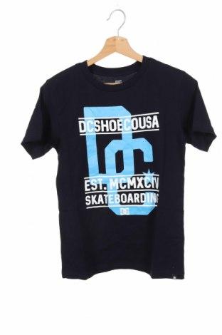 Детска тениска DC Shoes, Размер 11-12y/ 152-158 см, Цвят Син, Памук, Цена 31,50лв.
