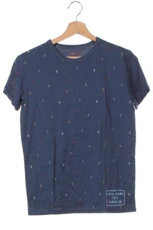 Tricou pentru copii Pepe Jeans, Mărime 13-14y/ 164-168 cm, Culoare Albastru, Bumbac, Preț 88,65 Lei