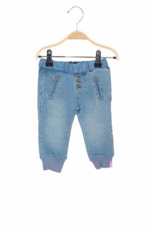 Детски дънки Beebielove, Размер 9-12m/ 74-80 см, Цвят Син, 94% памук, 6% еластан, Цена 33,00лв.