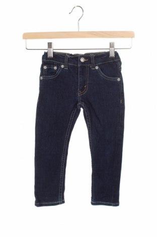 Dětské džíny  Levi's, Velikost 18-24m/ 86-98 cm, Barva Modrá, 73% bavlna, 17% polyester, 9% viskóza, 1% elastan, Cena  335,00Kč
