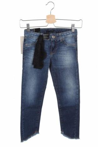 Blugi pentru copii Sisley, Mărime 7-8y/ 128-134 cm, Culoare Albastru, 98% bumbac, 2% elastan, Preț 170,23 Lei