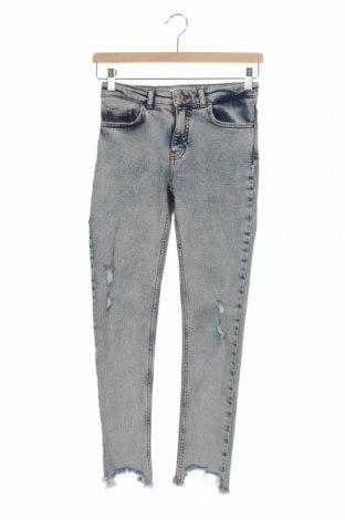 Детски дънки Zara, Размер 11-12y/ 152-158 см, Цвят Син, Цена 18,75лв.
