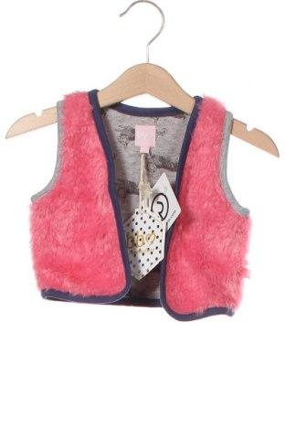 Детски елек Beebielove, Размер 6-9m/ 68-74 см, Цвят Розов, 95% памук, 5% еластан, Цена 26,60лв.