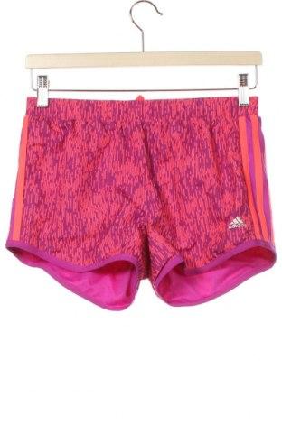 Dětské krátké kalhoty  Adidas, Velikost 13-14y/ 164-168 cm, Barva Růžová, Polyester, Cena  383,00Kč
