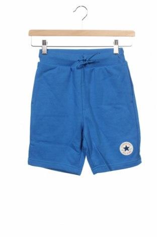 Pantaloni scurți pentru copii Converse, Mărime 8-9y/ 134-140 cm, Culoare Albastru, 60% bumbac, 40% poliester, Preț 138,16 Lei