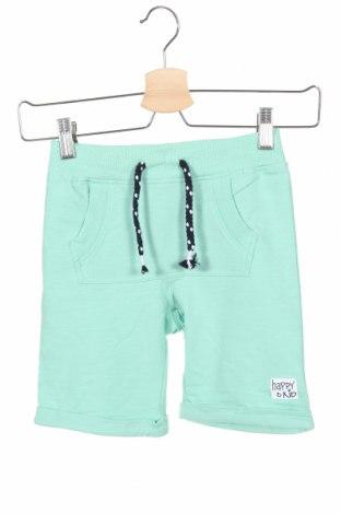Pantaloni scurți pentru copii Name It, Mărime 5-6y/ 116-122 cm, Culoare Verde, 95% bumbac, 5% elastan, Preț 71,54 Lei