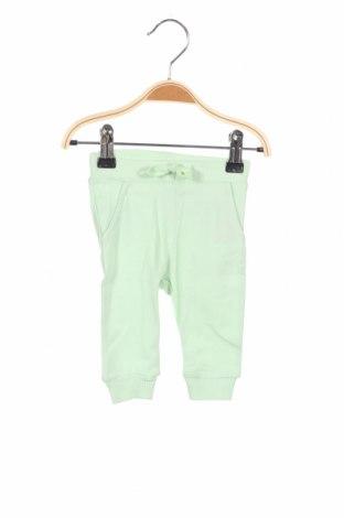 Pantaloni pentru copii Name It, Mărime 1-2m/ 50-56 cm, Culoare Verde, 95% bumbac, 5% elastan, Preț 54,28 Lei