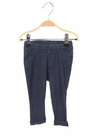 Pantaloni pentru copii Name It, Mărime 3-6m/ 62-68 cm, Culoare Albastru, 82% bumbac, 14% poliester, 4% elastan, Preț 64,15 Lei