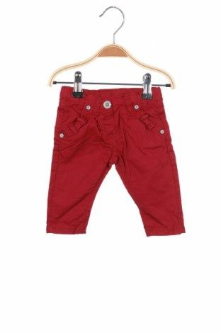 Pantaloni pentru copii Steiff, Mărime 2-3m/ 56-62 cm, Culoare Roșu, 98% bumbac, 2% elastan, Preț 170,23 Lei