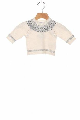 Pulover pentru copii Petit Bateau, Mărime 2-3m/ 56-62 cm, Culoare Bej, 40% lână, 42% poliamidă, 10% lână de alpaca, Preț 147,53 Lei