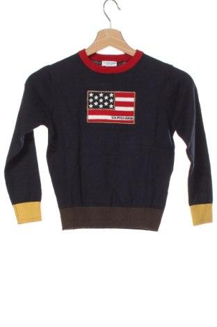 Pulover pentru copii U.S. Polo Assn., Mărime 5-6y/ 116-122 cm, Culoare Albastru, 90% bumbac, 10% cașmir, Preț 260,86 Lei