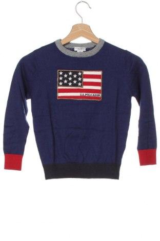 Pulover pentru copii U.S. Polo Assn., Mărime 5-6y/ 116-122 cm, Culoare Albastru, 90% bumbac, 10% cașmir, Preț 280,92 Lei
