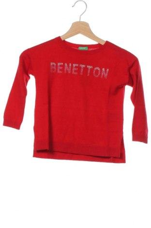 Pulover pentru copii United Colors Of Benetton, Mărime 4-5y/ 110-116 cm, Culoare Roșu, 45% viscoză, 30% poliamidă, 20% bumbac, 5% lână, Preț 124,34 Lei