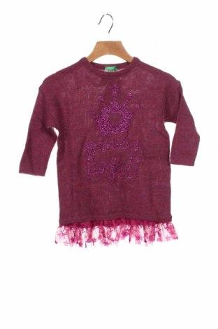 Dětský svetr  United Colors Of Benetton, Velikost 18-24m/ 86-98 cm, Barva Fialová, 75%acryl, 19% vlna, 5% viskóza, Cena  599,00Kč