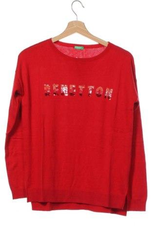 Pulover pentru copii United Colors Of Benetton, Mărime 14-15y/ 168-170 cm, Culoare Roșu, 45% viscoză, 30% poliamidă, 20% bumbac, 5% lână, Preț 119,74 Lei