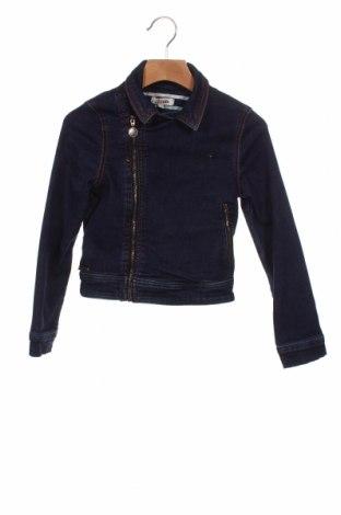 Geacă de blugi, pentru copii Jean Paul Gaultier, Mărime 7-8y/ 128-134 cm, Culoare Albastru, 67% bumbac, 20% poliester, 11% viscoză, 2% elastan, Preț 202,23 Lei
