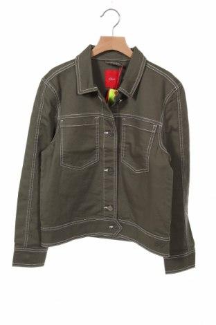 Dětská džínová bunda  S.Oliver, Velikost 11-12y/ 152-158 cm, Barva Zelená, 97% bavlna, 3% elastan, Cena  750,00Kč