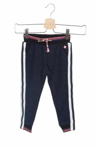 Pantaloni de trening, pentru copii Flo, Mărime 18-24m/ 86-98 cm, Culoare Albastru, 85% bumbac, 15% fire din metal, Preț 145,56 Lei