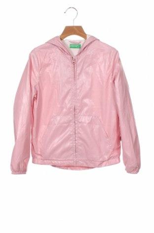 Детско яке United Colors Of Benetton, Размер 8-9y/ 134-140 см, Цвят Розов, Полиестер, Цена 34,50лв.