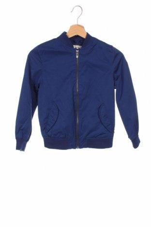 Детско яке Zara, Размер 7-8y/ 128-134 см, Цвят Син, 50% полиамид, 50% полиестер, Цена 27,00лв.