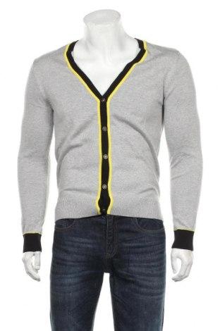 Jachetă tricotată de bărbați John Devin, Mărime S, Culoare Gri, 50%acril, 50% bumbac, Preț 96,16 Lei