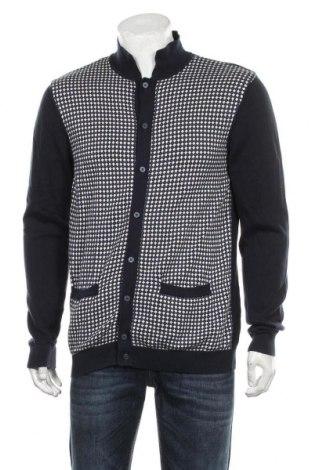 Jachetă tricotată de bărbați Next, Mărime L, Culoare Albastru, Bumbac, Preț 92,84 Lei