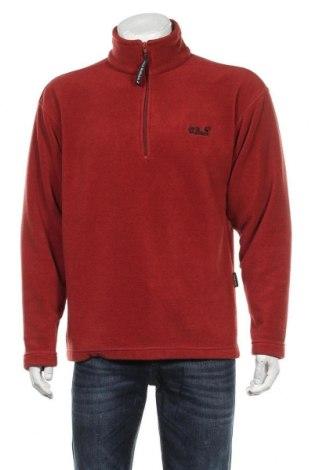 Bluză polară de bărbați Jack Wolfskin, Mărime L, Culoare Roșu, Poliester, Preț 194,08 Lei
