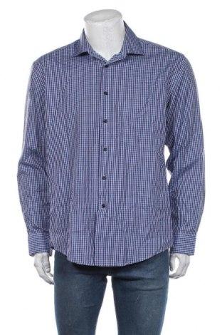 Мъжка риза Alfred Sung, Размер L, Цвят Син, Памук, Цена 28,93лв.