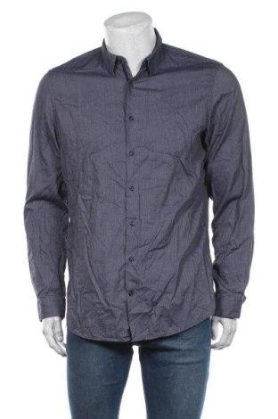 Ανδρικό πουκάμισο Angelo Litrico, Μέγεθος L, Χρώμα Μπλέ, Βαμβάκι, Τιμή 9,74€