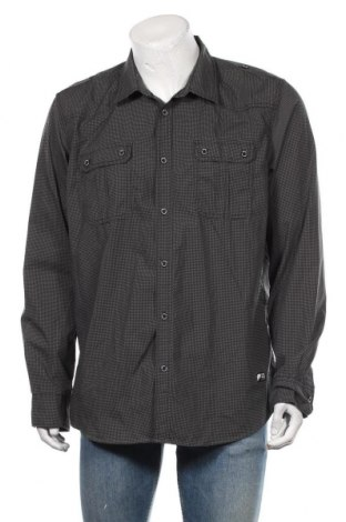 Ανδρικό πουκάμισο Angelo Litrico, Μέγεθος XXL, Χρώμα Γκρί, 65% πολυεστέρας, 35% βαμβάκι, Τιμή 12,34€