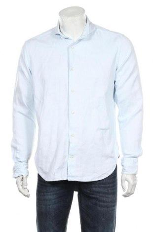 Мъжка риза Boggi, Размер L, Цвят Син, Памук, Цена 40,95лв.