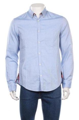 Мъжка риза Boss Green, Размер M, Цвят Син, Памук, Цена 58,50лв.
